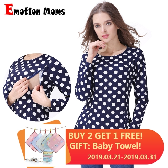 3f05ce0a4cf69 Emotion Moms Long sleeve Maternity Clothes Nursing Tops Breastfeeding  Clothing for Pregnant Women Nursing shirts Maternity Tops