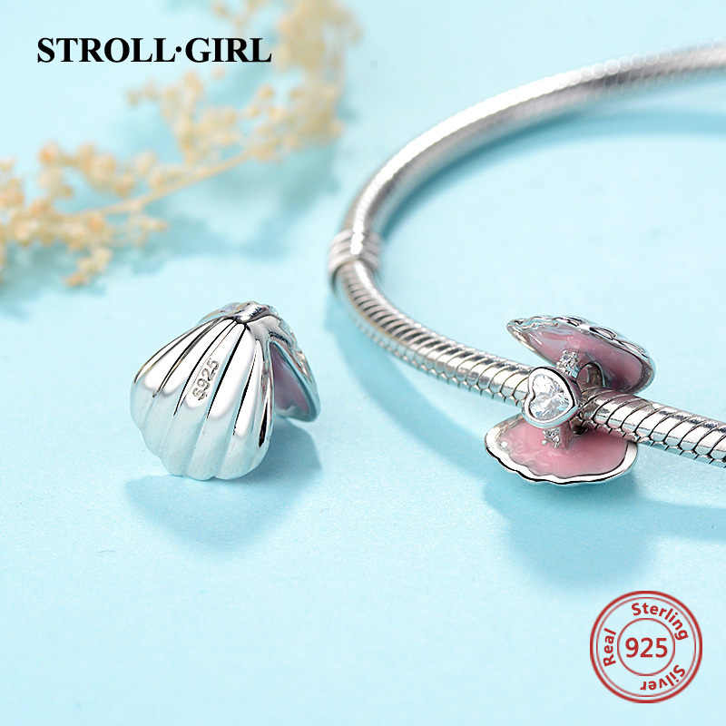 Nueva llegada 925 cuentas de joyero de plata con esmalte Rosa pulsera de Pandora con encanto de moda diy para hacer joyas para regalo de mujer