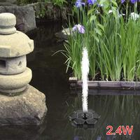 Solar Fountain 9V 2.4W with LED Light for Outdoor Pond Pool Fish Tank Garden Decoration