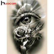 Huacan 5D Diamond Painting Full Square Embroidery Eye Display Landscape Rhinestones Decor Home Gift