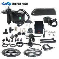 Free shipping Bafang bbs01 36V 350W mid crank drive motor kit with 36V 13AH 16AH electric bike lithium Hailong Battery