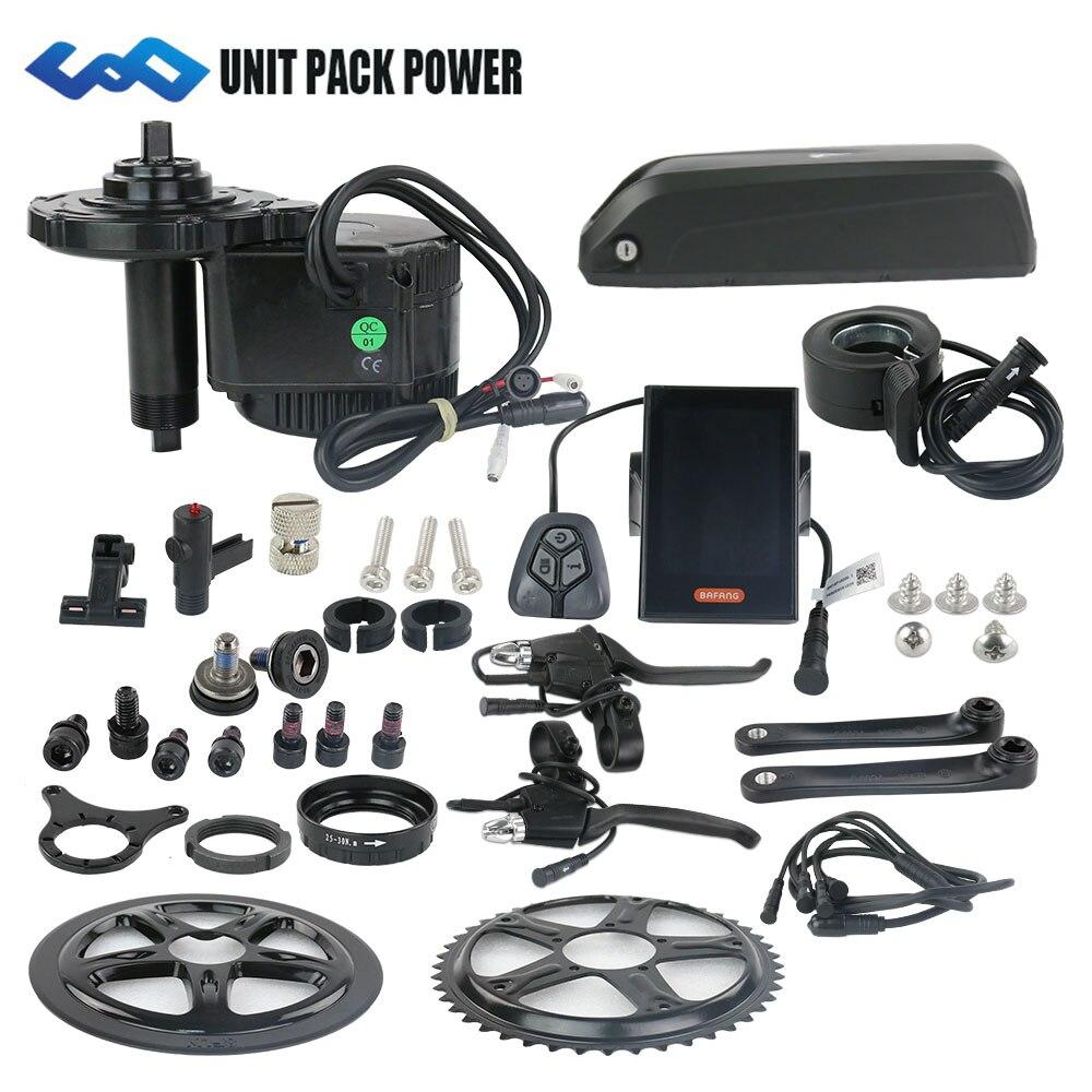 Livraison gratuite Bafang bbs01 36 V 350 W kit de moteur d'entraînement à manivelle moyenne avec batterie 36 V 13AH 16AH vélo électrique lithium Hailong