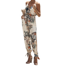 Womens Jumpsuit Fashion Romper Sleeveless Sexy Clubwear Summer Bodycon Pants Lace Up Print Jumpsuits Ladies Brand New Playsuits