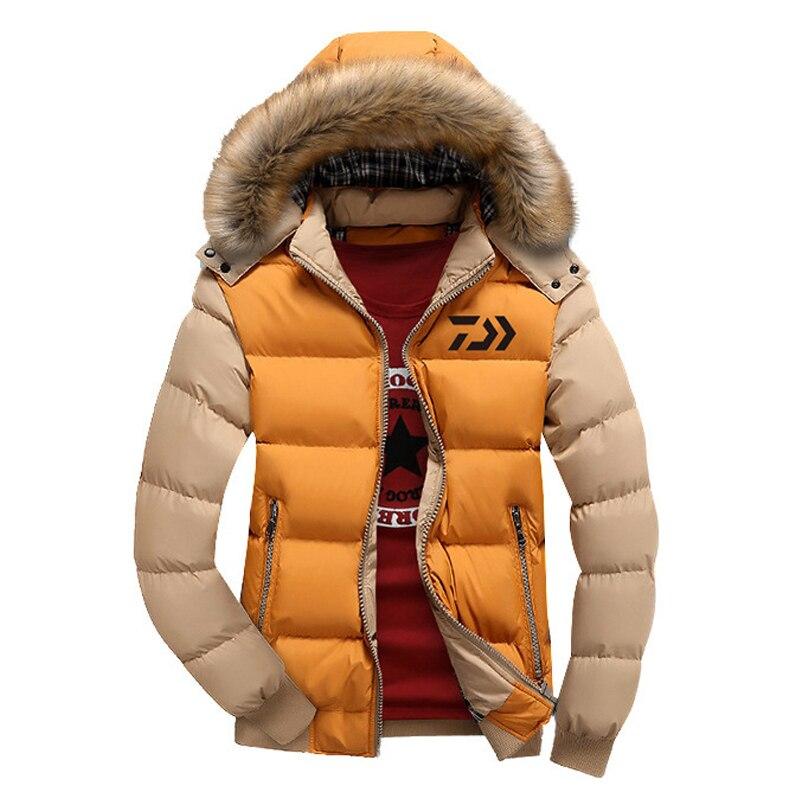 1 pc 9 couleurs DAIWA chaud hiver pêche vêtements nouveaux hommes coton manteau pêche veste épais coupe-vent Sports de plein air veste