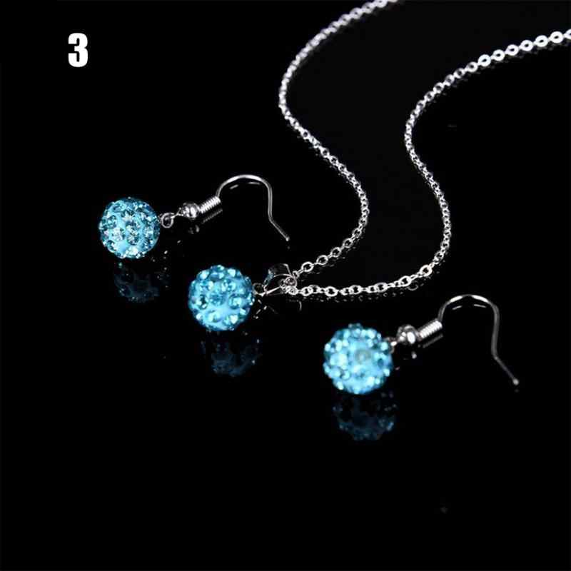 Women Retro Tibetan Silver Crystal Pendant Necklace Bracelet Earrings Set Jewelry Sets