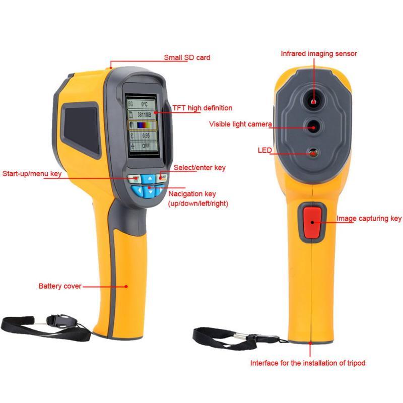 Caméra thermique caméra thermique, imageur thermique IR infrarouge avec affichage couleur de 2.4 pouces et mode de mise au point fixe