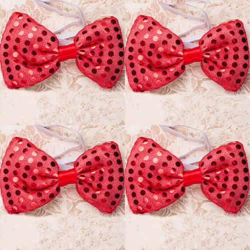 Led Flashing Light Up Sequin Bowtie Necktie Mens Boys Party Bow Tie Wedding Ties Holiday Diy