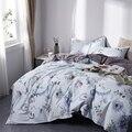 TUTUBIRD-europeo de ropa de cama 100% algodón egipcio pastoral de la hoja de cama funda nórdica de lino reina rey tamaño 4 piezas