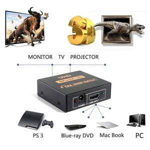 Image 5 - NEW 1x2 HDMI Splitter v1.4b View 4K 3D 1080p One Input to Two Output Top US Plug