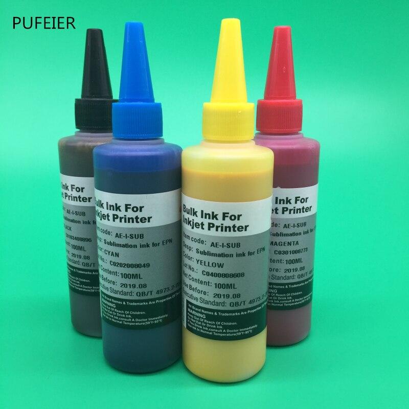 4 Bottles T252XL1-T252XL4 T2521-T2524 Sublimation Ink For Epson WF-3620  WF-3640 WF-7610 WF-7620 WF-7710 WF-7720 WF-7210