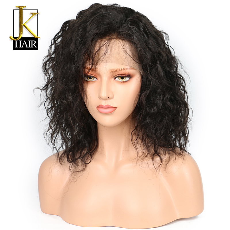 Human Hair Lace Wigs Short Curly Lace Front Human Hair Wig Brazilian Hair Bob Wig For Women Black Color Pre Plucked Full End Jk Hair Less Expensive Lace Wigs