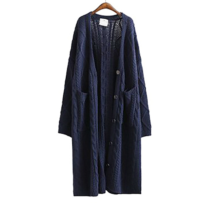 Blue Veste Unique Femmes Grande Mode Blue Automne Chandail Nouveau Épaississement Lâche Longues Solide Manteau Manches 2018 J72905 Poitrine Taille ewq Couleur navy Cq1awTt8