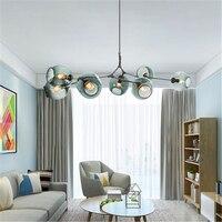 현대 로프트 유리 led 샹들리에 조명 펜 던 트 램프 조명 이탈리아 매달려 램프 다이닝 룸 주방 avize luminaria 비품|인테리어 라이트|   -