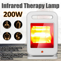 200W Infrared Pain Relief Therapy Light Health Physiotherapy Heat Lamp Radiator Adjustable Lamp Manual Rotation Lighting White