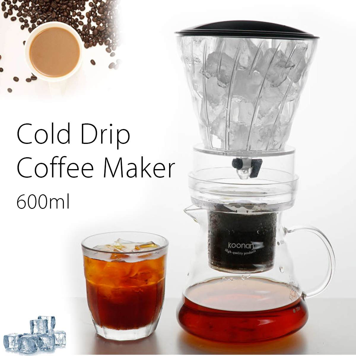 600ml/1000ml Water Drip Coffee Machine Reusable Filter Tools Glass Espresso Coffee Dripper Pot Ice Brew Cold Drip Coffee Maker600ml/1000ml Water Drip Coffee Machine Reusable Filter Tools Glass Espresso Coffee Dripper Pot Ice Brew Cold Drip Coffee Maker