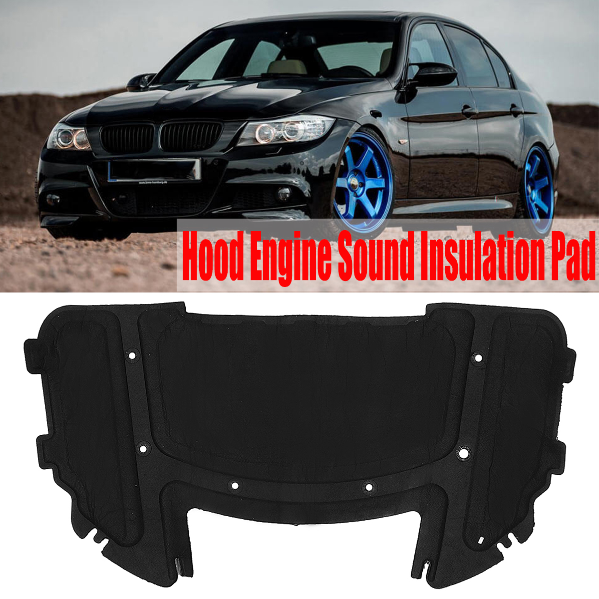 Tapis d'isolation thermique pour moteur de capot de voiture tapis d'isolation thermique pour BMW E90 E91 E92 E93 323i 325i 51487059260