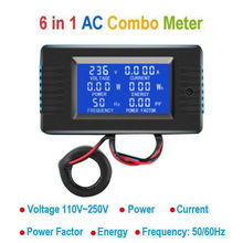 DYKB AC Combo Meter AC 110V 220V 100A Digital Voltage Energy Voltmeter Ammeter Power Current Watt frequency LCD Indicator 10A