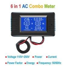 DYKB AC Combo mètre ca 110V 220V 100A tension numérique voltmètre dénergie ampèremètre puissance courant Watt fréquence LCD indicateur 10A