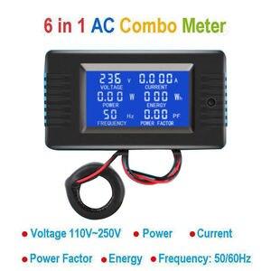 Image 1 - DYKB AC Combo mètre ca 110V 220V 100A tension numérique voltmètre dénergie ampèremètre puissance courant Watt fréquence LCD indicateur 10A