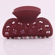 2019 new fashion summer washing hair clip for girls plastic ABS hollow out cross pattern claw crab for hair tins hairpin large недорого