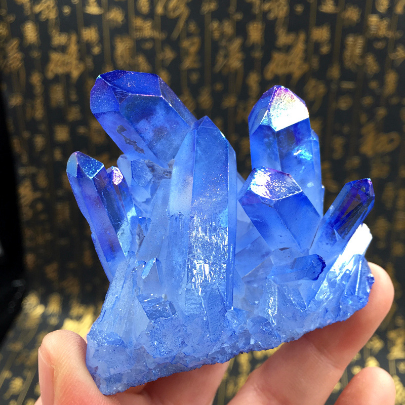 Special offer natural small piece blue crystal cluster original stone decoration degaussing purification specimen collection in Stones from Home Garden