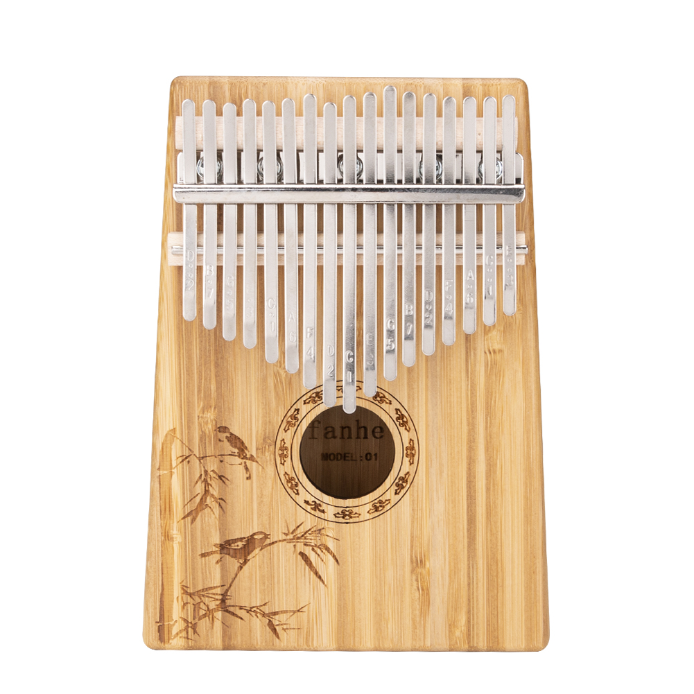 17 Keys EQ Kalimba Mbira Calimba Solid Acacia Thumb Piano Link Speaker Electric Pickup with bag