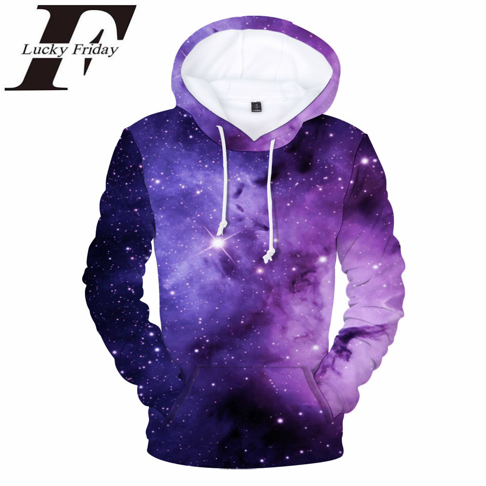 LUCKYFRIDAYF 3D Print Hooded Hoodies Cool Star Sky Sweatshirt Women Fashion Hip Hop Cool Hoodie Casual Tracksuit Clothes