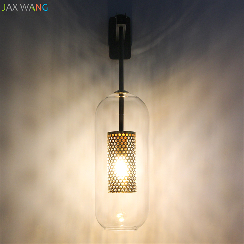 Modern Luxury Glass Wall Lamp Wall Lights Black Gold Living Room Bedroom Bedside Lamps Indoor Lighting Fixtures Decoration Avize in LED Indoor Wall Lamps from Lights Lighting