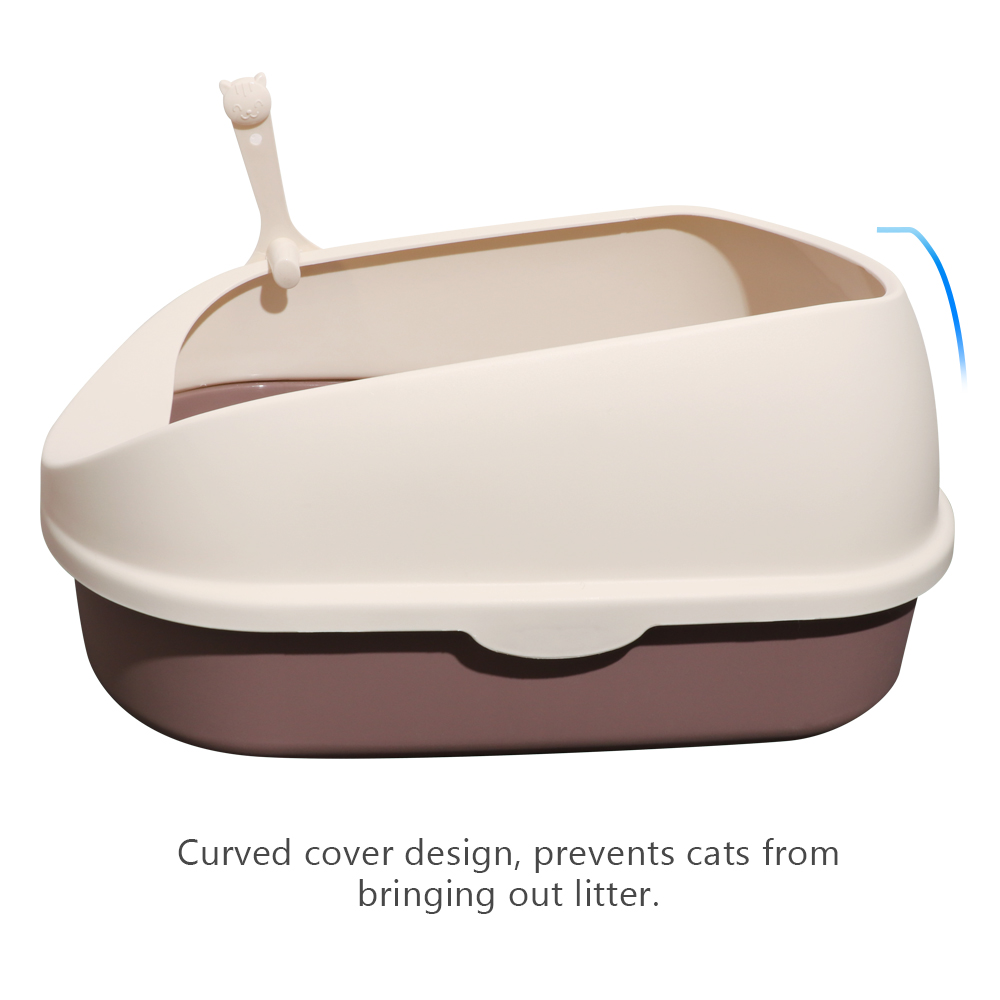 BLUERISE Large Size Semi closed Cat Toilet Durable Restroom For Cats Tray For Cats Reusable Litter Box Training Toilet Sandbox in Cat Litter Boxes from Home Garden