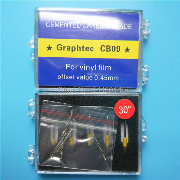 Image 4 - Best price 30 60 45 degree Icontek Graphtec CB09 CE5000 CE6000  cutter plotter cutting blade 10pcs wholesalePrinter Parts   -
