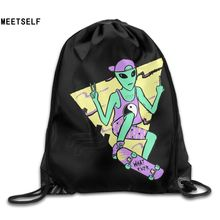 SAMCUSTOM alien 3D Print Shoulders Bag Fabric Backpack men and women Port  Drawstring Travel Shoes Dust
