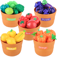 30Pcs Children Pretend Play Plastic Food Toy Cutting Fruits And Vegetables Playset Educational Toys Pretend Play For Children