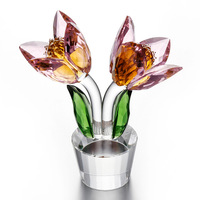 Crystal Flower Clivia Ornaments Car Accessories Ornaments Creative Festival Gift Manufacturer Direct