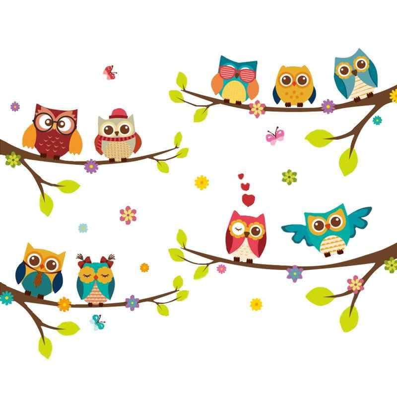 1pc Cartoon Wall Sticker Tree Owl Bird Pattern Wall Decal Child Room Nursery Baby Boy Girl Bedroom Wall Stickers Aliexpress The videos are produced and used for free for educational purposes, but you must include the author's source #hungtruongvfx ! aliexpress