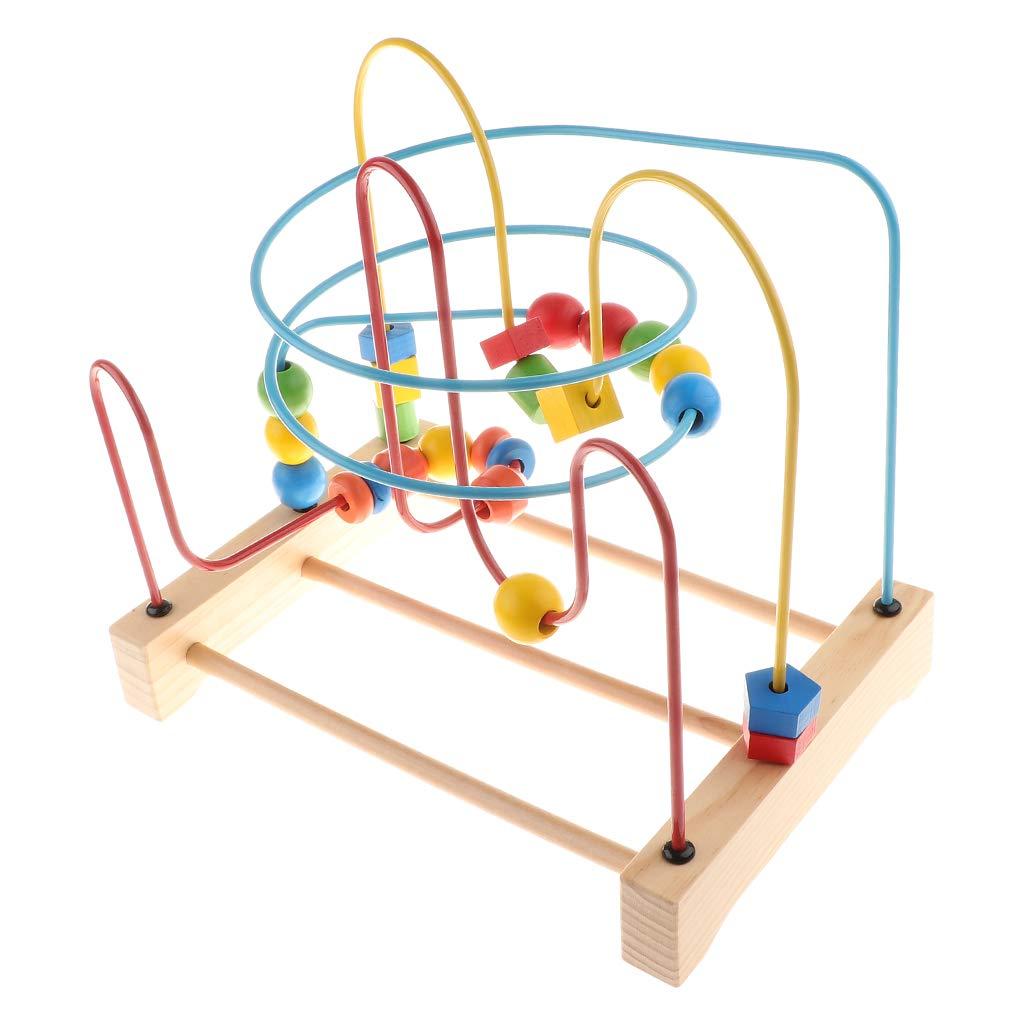 Perle en bois labyrinthe jeu de Puzzle couleur forme reconnaissance Coordination oeil-main jouet éducatif cadeau pour enfants bébé enfants
