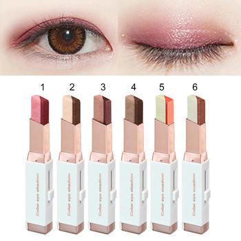 Koreańskie kosmetyki dwukolorowe cienie do powiek makijaż cień do powiek kij cień do powiek ołówek przyrząd kosmetyczny tanie i dobre opinie Cień do oczu BRIGHTEN 3 8g Naturalne Dwa kolory HB05106A1 Eyeshadow W pełnym rozmiarze CHINA Eyeshadow Palette Merssavo