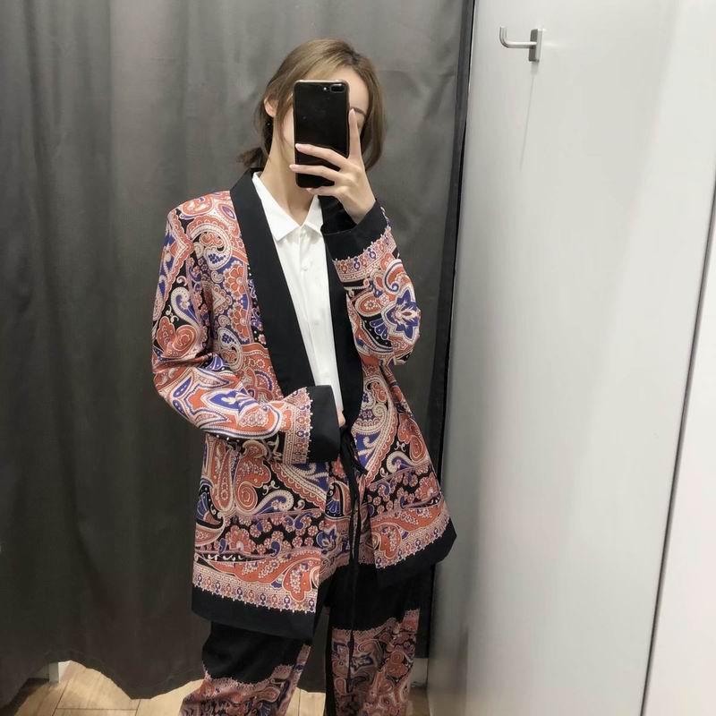 Frauen Kleidung & Zubehör Frauen Blazer Frühling 2019 Neue Mode Vintage Paisley Drucke Muster Schärpen Gürtel Kimono Stil Weibliche Casual Tops Durch Wissenschaftlichen Prozess