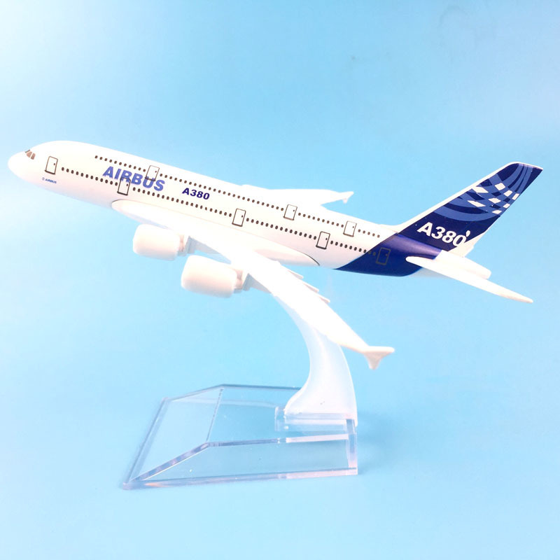 16cm Airbus A380 Plane Aircraft Model Diecast Metal Model Aeroplane 1:400 Plane A380 Airplane Model Toy