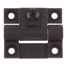 1.65x1.42 بوصة 4 ثقوب غاطسة تعديل عزم الدوران موقف التحكم المفصلي مفصلات الأبواب السوداء استبدال ل Southco E6 10 301 20