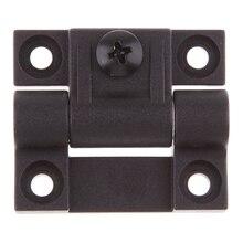 1.65x1.42 Polegada 4 furos rebaixados dobradiças de controle posição torque ajustável preto da porta substituir para southco E6 10 301 20
