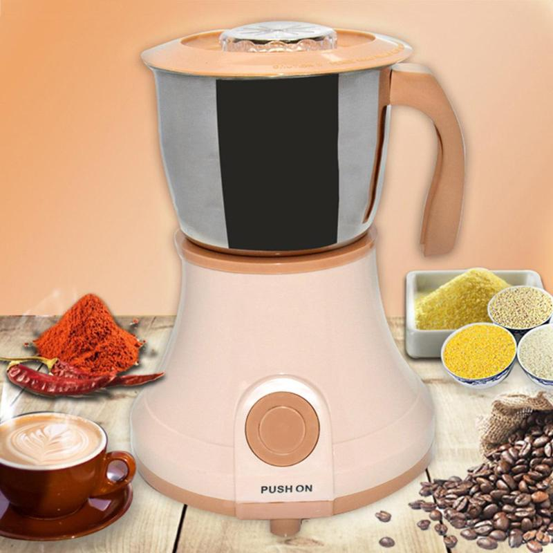 Electric Coffee Grinder Maker 400W Stainless Steel Coffee Bean Grinder Spice Nuts Seeds Coffee Bean Grind Machine Kitchen Tool