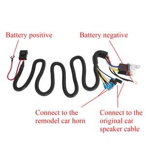 Image 3 - Kit de arnés de cableado para parrilla de coche, Kit de arnés de cableado de bocina eléctrica de 12/24V 40A, claxon de tono Blast