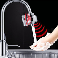 Dual Infrared Automatic Sensor Faucet Water Outlet Tap Adapter Touchless Sensor Kitchen Sink Faucets Water Filter Fast Assembly