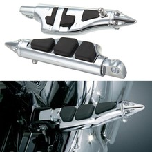 For Harley Softail Sportster Dyna Glide Fat Boy Motorcycle Spike Rear Passenger Stiletto Foot Pegs Pedals Bracket footpeg Rests passenger footrest rear footpeg mounts fit for harley dyna super low glide fxdf two colors motorcycle