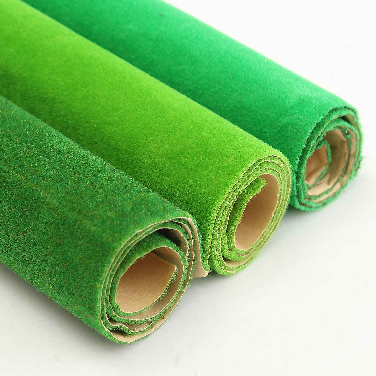 50x50cm 3 Colors Grass Mat Green Artificial Lawns Carpets For Building Model Garden Moss Miniatures Model Making Floor Decorate