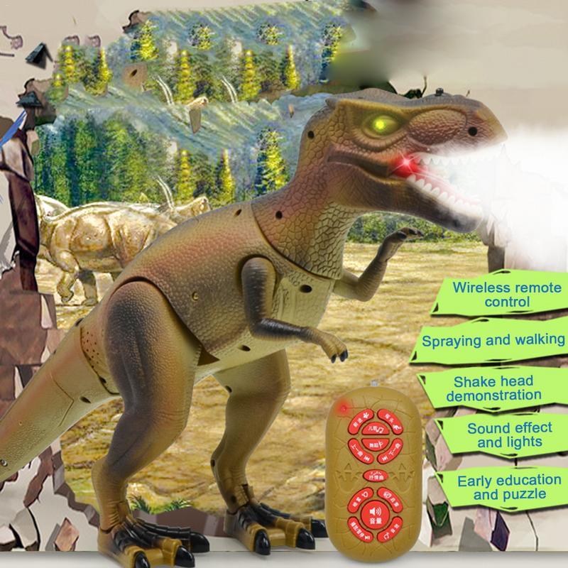 Électrique Dinosaure Jouet Marche Modèle Animal Simulation Grand Intelligente Pulvérisation Dinosaures Avec Lampe Modèle Jouets Pour Enfants