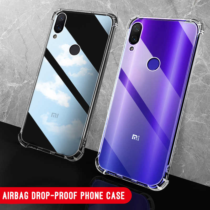 For Xiaomi Mi 9 8 SE A2 lite Mi Max3 5X Pocophone F1 Redmi 7 Note 7 6 Pro 6 6A 5 Plus Soft Anti-Knock Transparent Cover Case