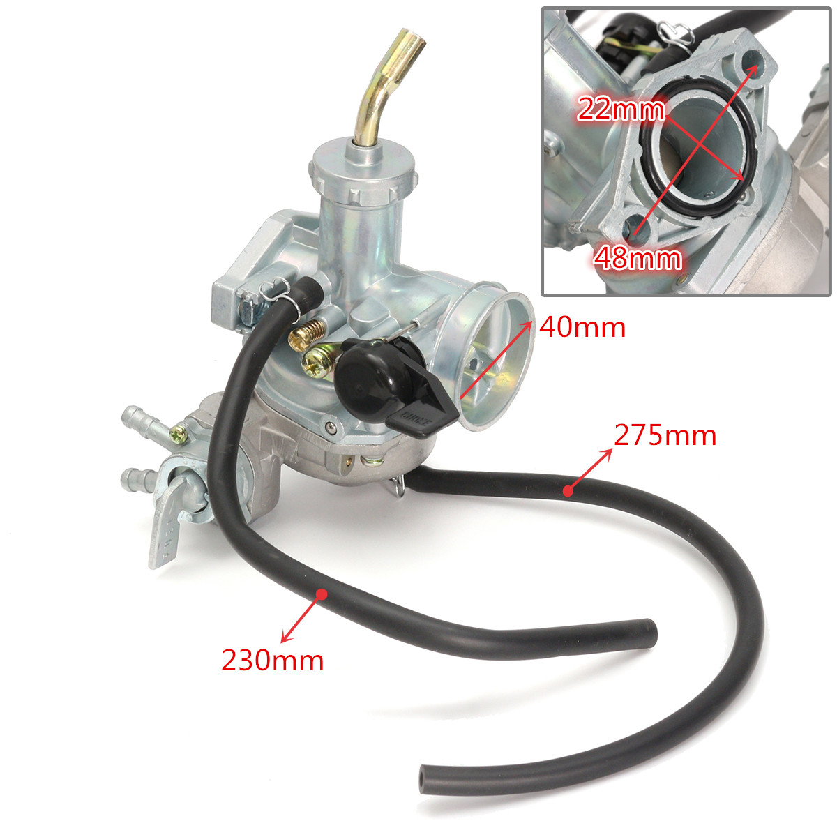 Carb Carburetor & Throttle Cable For Honda ATV ATC 70 <font><b>90</b></font> 110 125 TRX125 C02220 image