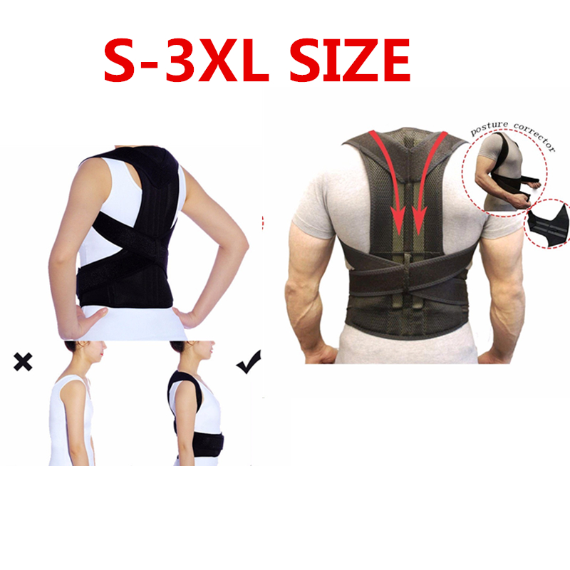 Drop Ship S-3XL Posture Corrector Back Support Belt Orthopedic Posture Corset Brace Back Shoulder Straightener Health Tool
