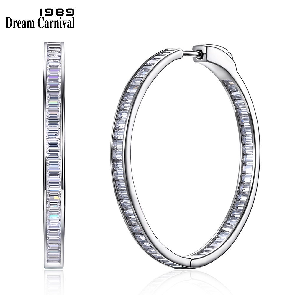 DreamCarnival1989 Simple Fashion Style 1 Row Stone Cubic Zirconia Slim Design Silver 925 Fashion Big Thin